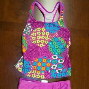 Fun Speedo Girls Swim Suit Size 10
